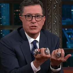 Julian Edelman and His Three Super Bowl Rings Appear on 'The Late Show'