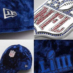 Limited-Edition Super Bowl LIII Caps Are Embellished With Rubies and Sapphires